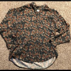 Oversized Paisley Button Up Flannel Size XL